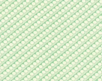 30's Playtime - Dotted Stripe in Betty's Green by Chloe's Closet for Moda Fabrics