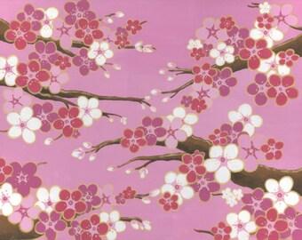 Pink Wedding Bells Cherry Blossoms Acrylic Painting - Valentines Day Pink Sakura Painting - Pink Sakura Tree Branch Unique Living Room Decor