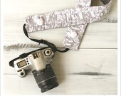 ruched camera strap cover - it's gray - bluebirdchic