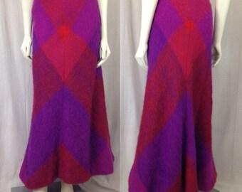 Vintage Lena Rewell wool skirt 1960s Finland