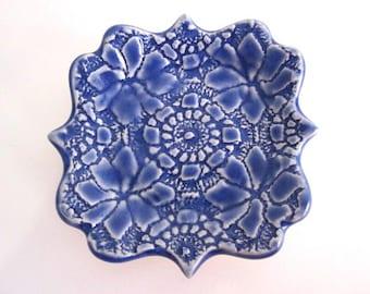 Royal blue ring dish