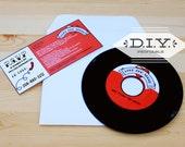 DIY printable- Rockabilly record invitation