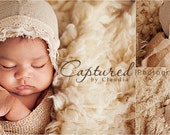 Leighton Heritage Newborn Stretch Wrap IN STOCK and Ready to Ship Natural Organic Knit Soft Swaddle Photography Prop Rustic Cloth Layer Pose
