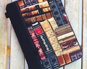 PERSONALIZED ipad mini case/ kindle case/ nook cases/ others - full zipper close HARD CASE - books
