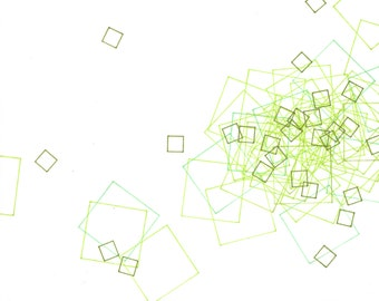 """Repeat 10, small, abstract, original, 10"""" x 8""""  drawing"""
