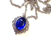 Blue Cabochon Necklace