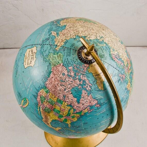 vintage globe retro home decor office accessories