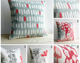 Pillow Cover, Cushion Cover, Pillow Case, Pillow Sham, Toss Pillow, Scatter Cushion, 18x18, 18 Inch - Red Blue Collection
