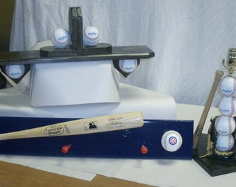 Baseball bedroom collection, includes lamp, shelf, coat hook, bookends New Style