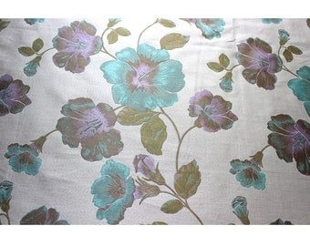 Shabby Chic Floral Curtain Fabric Upholstery Panels Drapery Window Treatment
