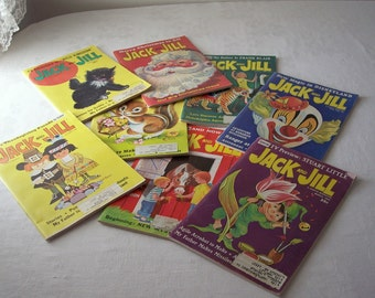 vintage jack and jill magazine - 1960s childrens magazine - instant collection