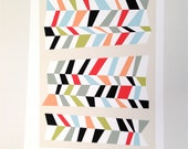 Abstract Art - Geometric Print- Chevron No.2