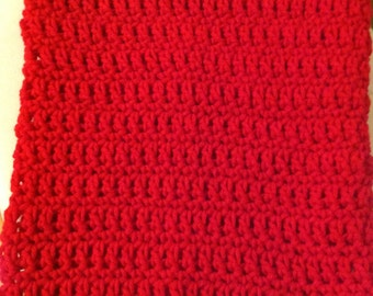 Scarf deep bright red infinity cowl