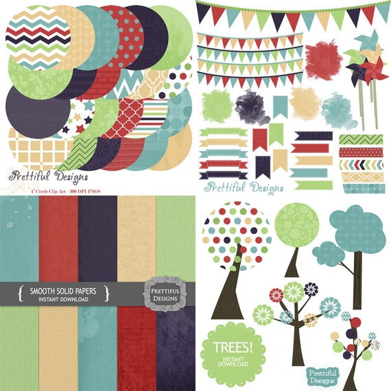 25% OFF Sale Digital Kit Clip Art Paper Tree Washi Tape Journal Spot Commercial Use Instant Download Smooth (728) (742) (725) (744)