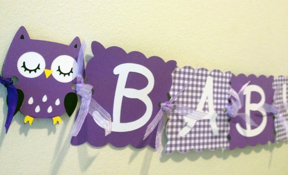 owl baby shower banner welcome baby baby shower by wittypaper
