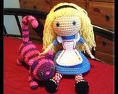 Alice and Cheshire Cat Doll Set