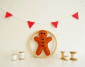 Felt Gingerbread Man *Hand Stitched*