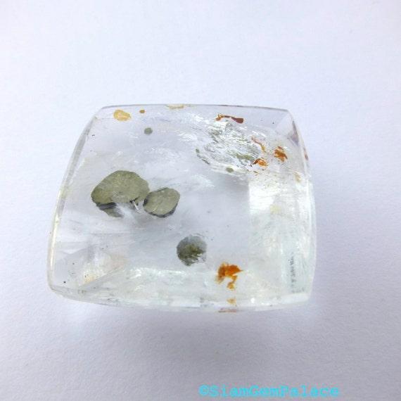 MICA in QUARtZ. Natural. Metallic Geometric Mica Plate