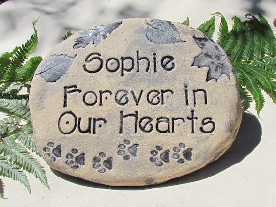 Personalized Pet Memorial Garden Stone Cat Or Dog Burial