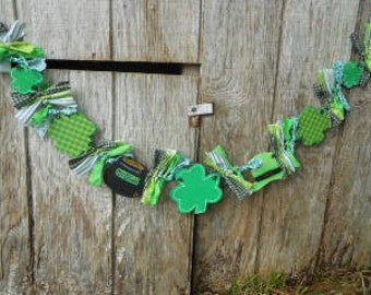 St Patricks Day Garland w Pot of Gold, Made To Order