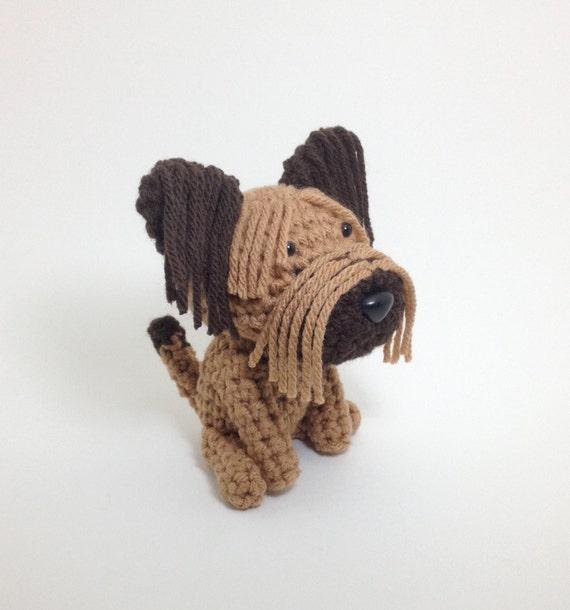 Amigurumi Dog Fur : Briard Crochet Dog Stuffed Animal Puppy Plush Toy Handmade