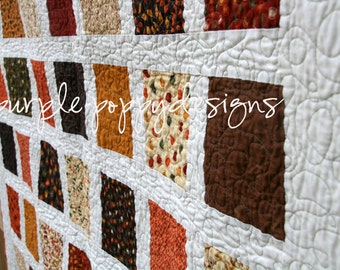 Custom Twin Patchwork Quilt (46x70in.)