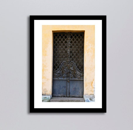 Door Photography Navy Blue and Gold Home Decor Tallin