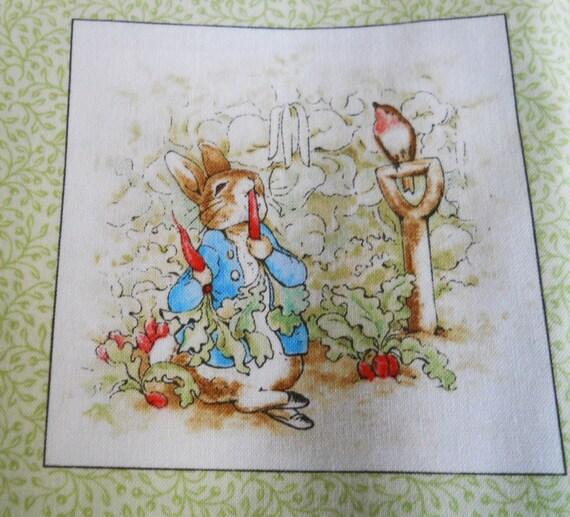 Beatrix Potter Cotton Fabric Peter Rabbit Fabric Panel