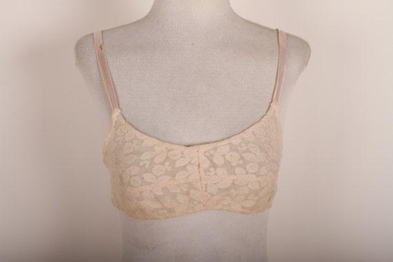 Vintage Women Bra - 1920s Lingerie - Lace Bra Top