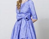 Blue cotton dress by Mrs Pomeranz