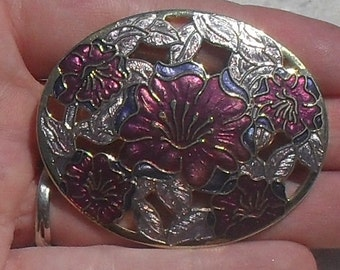 PERFECT --Vintage --Fish Enterprises Uk & Crown Jewelry US--Fine Enamel-- 22k GP--Scotland