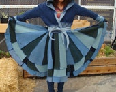 Blue Green Sweater Coat - AnnaMartini