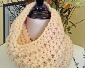 Handmade Crocheted Cowl Scarf