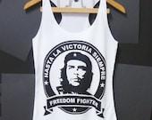 Che Guevara tank top size XS,M Unisex Women t shirts Men singlet White teen girls TANK TOP