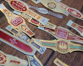 Vintage cigar label lot of 24 mixed variety
