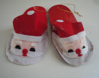 Santa Head Slipper Ornaments