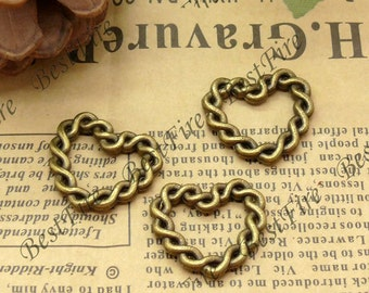 24 pcs of Antique Brass fancy jumpring ,metal bead,loose heart rings beads,finding 20x21mm