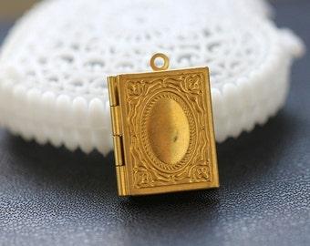 10pcs  Vintage  Raw Brass   Locket Pendant  Charms/Pendants-  (LOCK-58)
