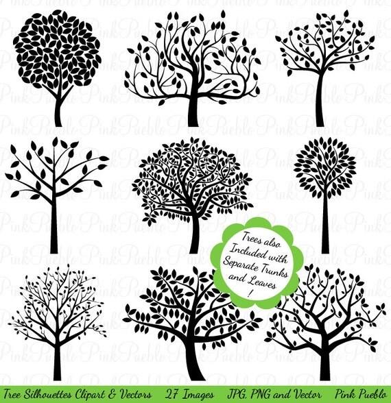 clip art tree silhouette - photo #10