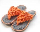 CROCHET Slipper PATTERN,  Crochet Sandals Pattern, Crocodile Stitch Slippers for Women,