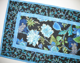 Floral Table Runner or Wall Hanging fabric from Timeless Treasures Tree of Life Fabric and Peggy Toole Lumina lines