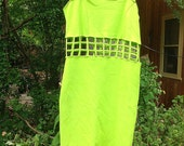 90's Lime green chain link dress