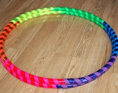 Rainbow Bliss Custom Hula Hoop - Collapsible or Standard - ANY Size