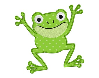 Jumping Frog Individual APPLIQUE Machine Embroidery Designs