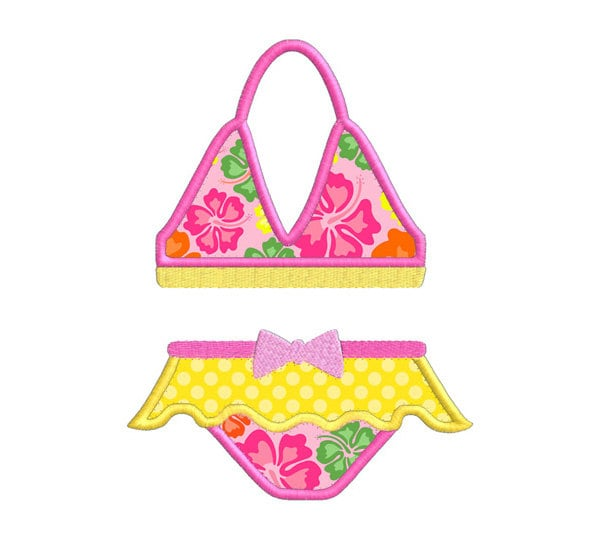 Summer bikini bathing suit individual applique machine