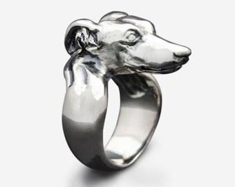 Sterling Silver Greyhound Ring
