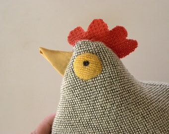 Stuffed chicken Henny Penny now with wings kitchen hen apron for her included retro hen tiny  chick included in pocket purse with penny