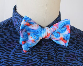 Blue Frosting Bow Tie