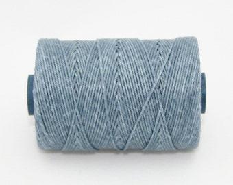 Waxed Irish Linen Thread Denim Blue 4 Ply