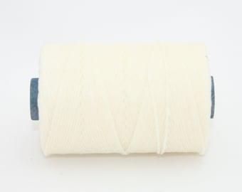 Waxed Irish Linen Thread White 7 Ply Waxed Thread